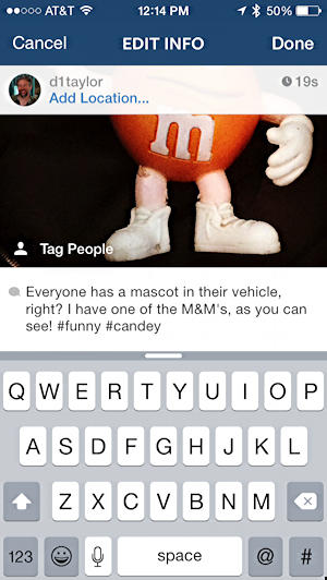 editing update status instagram post orange M&M's