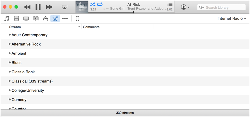 internet streaming radio stations in mac apple itunes