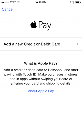 are you sure you want to add a card to apple pay?