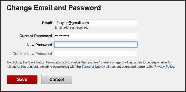 where do i change my gmail password