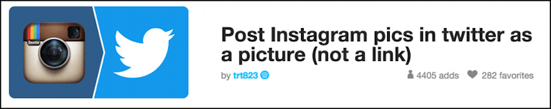 post photo picture to twitter from instagram recipe
