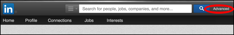 the linkedin search bar