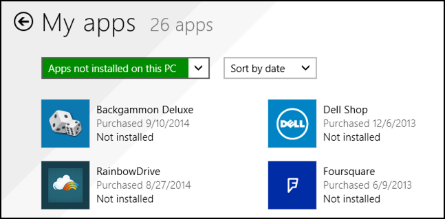 apps not installed on this microsoft windows win8 win8.1 laptop tablet pc computer