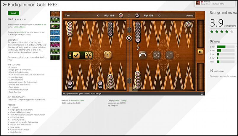backgammon game for windows 8 8.1 pc computer tablet smartphone