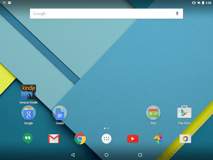 find the all apps button on an android tablet