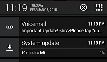 download progress bar android cell phone notification window