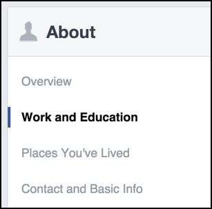 facebook profile choices and options