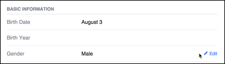 specify your gender in facebook fb