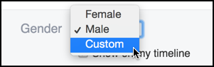 choose a custom gender