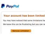 paypal phishing scam email warning