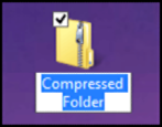 how to create work with compressed zipped zip folder win8 windows 8.1