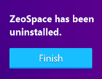 how to uninstall remove delete zeospace