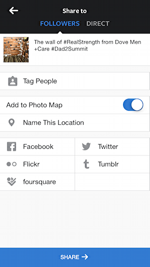 tag people, name location, instagram