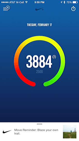 today's achievement fuelpoints nike nike+ fuelband se