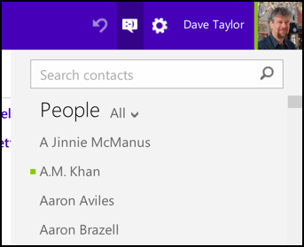 address book access in outlook.com