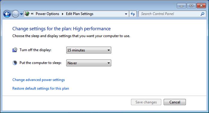 how to make your monitor never sleep windows 7