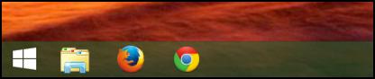 windows 8 bottom bar, with dumb windows logo button
