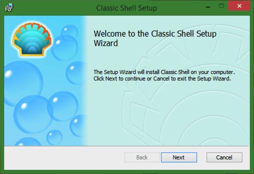 classic shell windows installer splash screen window