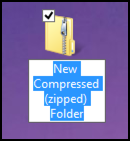 new compressed (zipped) folder