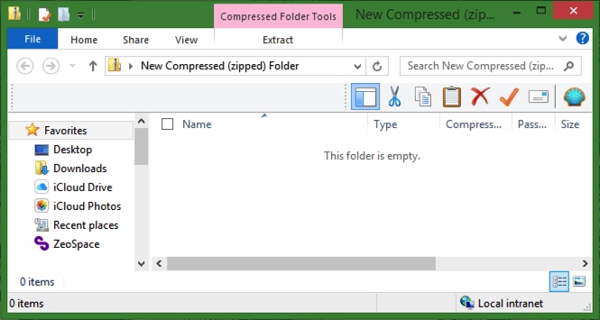how to create a compressed zip folder