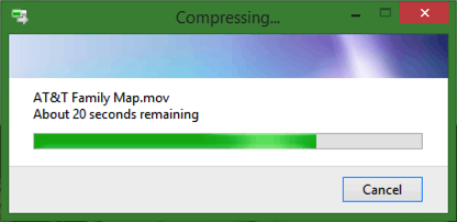 compressing large file in ms microsoft windows
