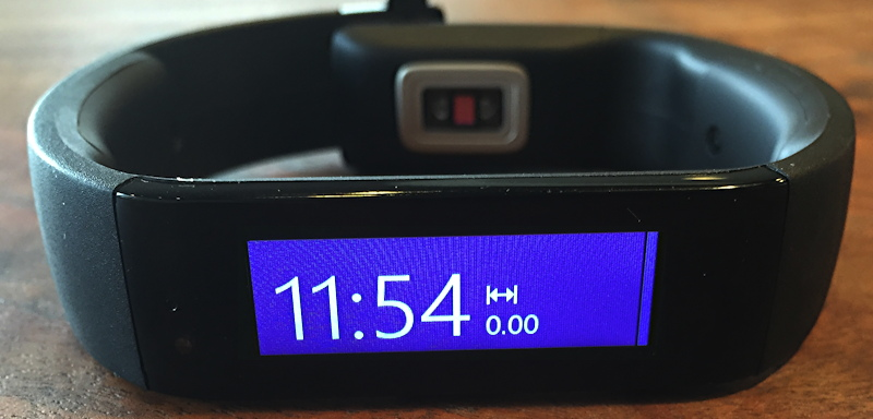 msft microsoft band with default solid blue background