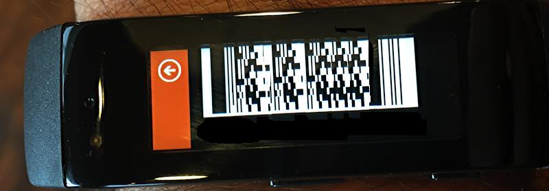 starbucks bar code card tile microsoft msft band