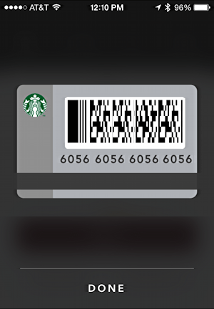 pay for your starbucks card number app