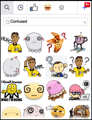 lots of confused stickers
