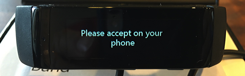please accept on your phone pairing request