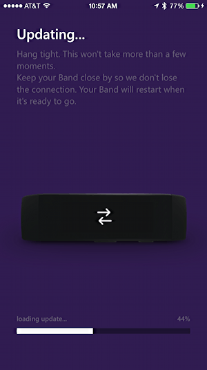 microsoft health app on iphone updating msft band