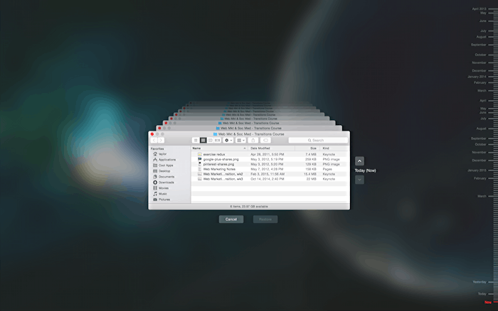 recover files from time machine