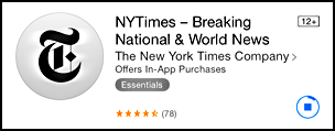 downloading nyt app for iwatch