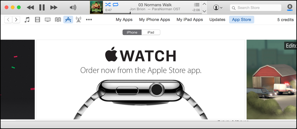 get apple watch apps from the apple itunes app store
