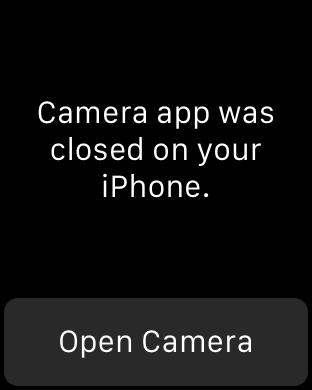 camera app closed on phone