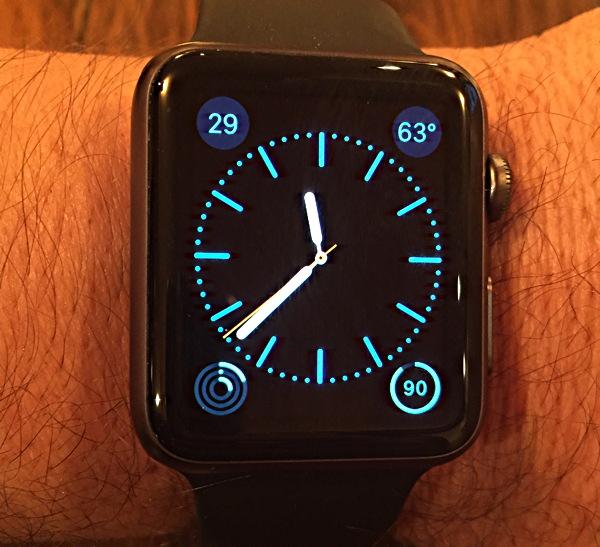 apple watch sport 42mm black watch face