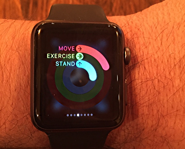 activity monitor on iwatch
