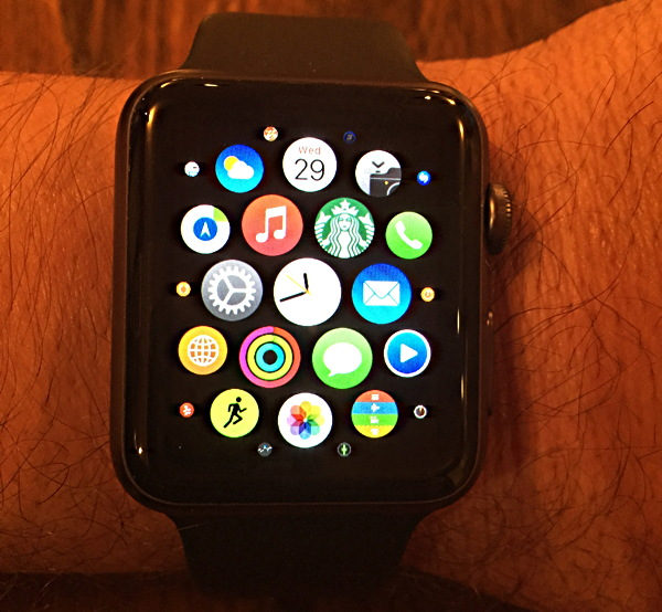 apple watch iwatch apps view