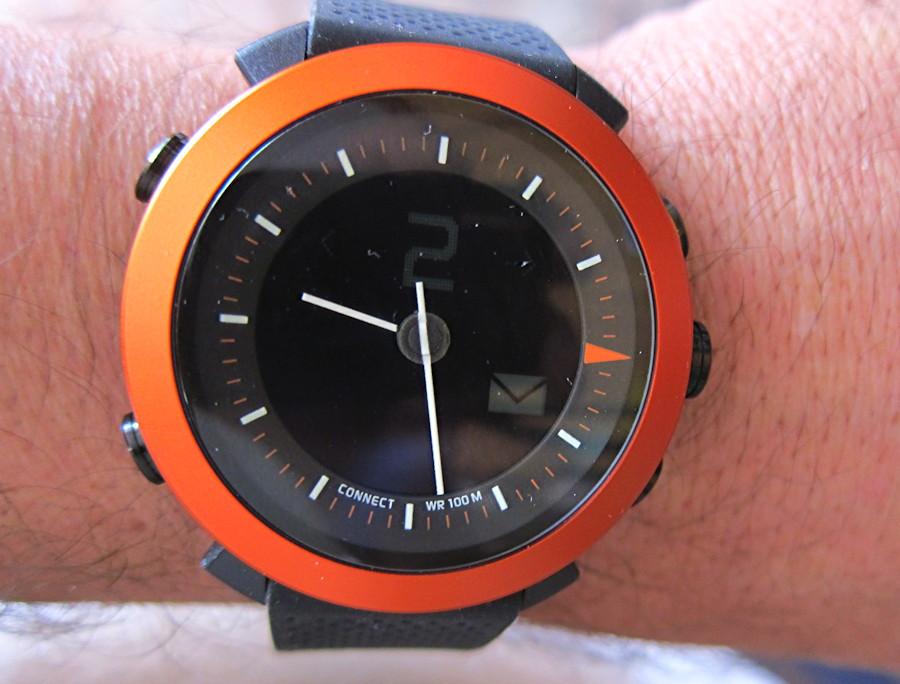 cogito classic watch orange and black