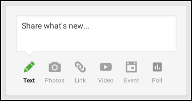 how to create a poll google plus