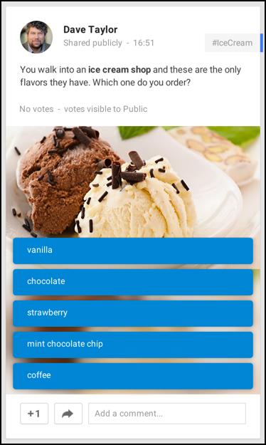 ice cream favorite flavor poll google plus