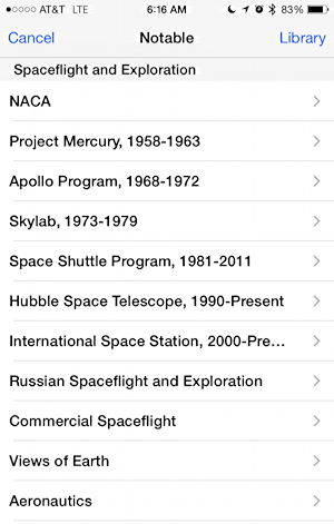 list of nasa historical talks, audio and documents available in itunes university