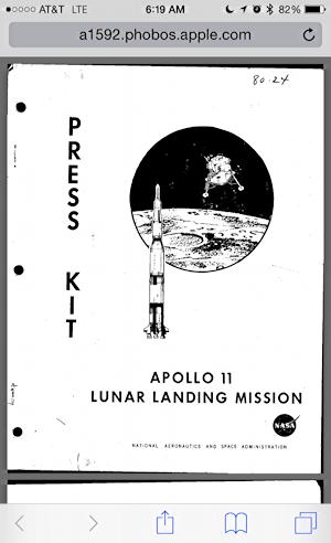 apollo 11 press kit nasa
