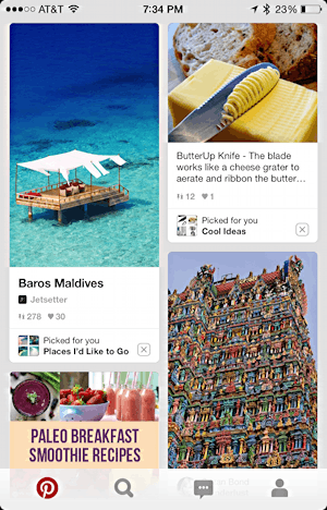pinterest on the iphone ipad ios8