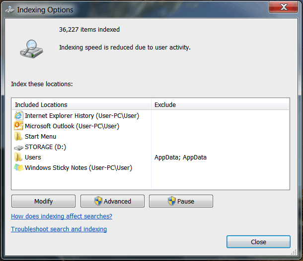 Change Indexing Options in Windows 7? - Ask Dave Taylor