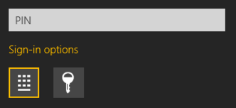 sign in options win8
