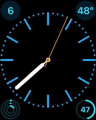 apple watch iwatch clock face
