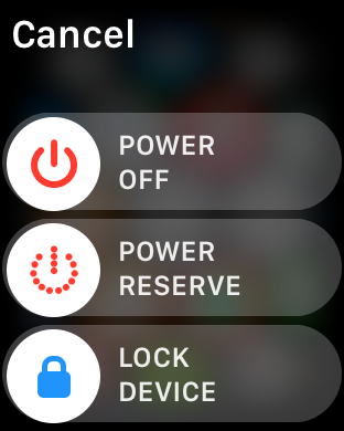 how to power down turn off apple watch sport edition