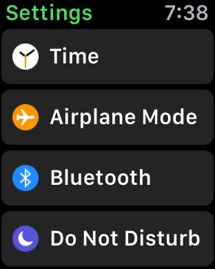 settings preferences customization iwatch