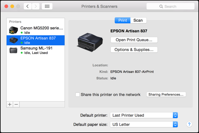 scan with an all-in-one printer on a mac
